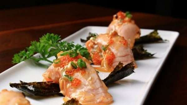 View Free Seared Salmon Nigiri