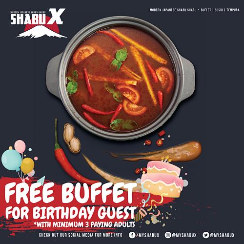 View Free Buffet Birthday Promo