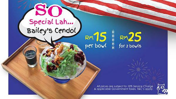 View Merdeka Special Bailey's Cendol at SOULed OUT Sri Hartamas