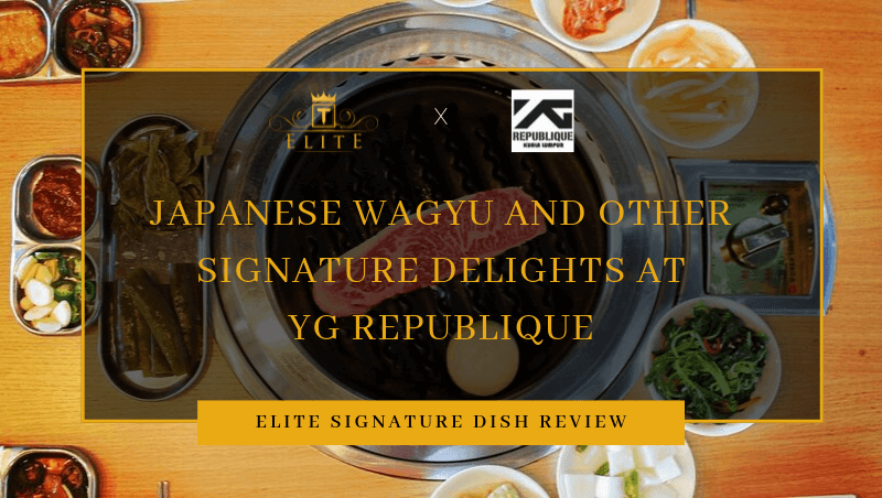 View Japanese Wagyu and Other BBQ Dishes at YG Republique
