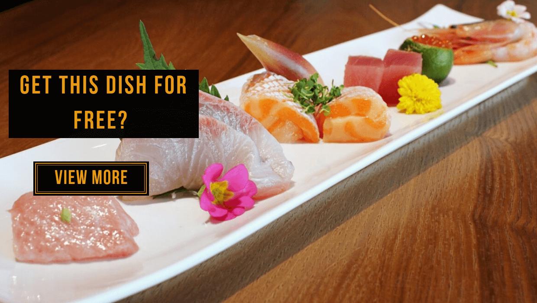 View This Free Premium Sashimi 6 Kinds at Hana Dining + Sake Bar at Sunway Pyramid Here!