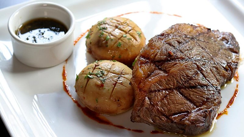 View CAAB Black Angus Sirloin at Pampas Steakhouse at Old Malaya