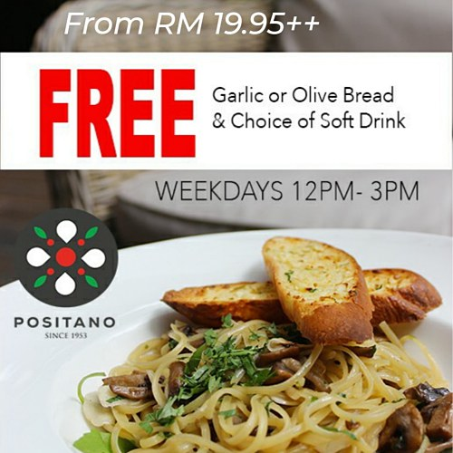 View Set Lunch Promo at Positano Risto Publika