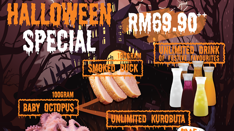 View Halloween Special Promotion at ROCKU Yakiniku for Halloween 2019 Celebration
