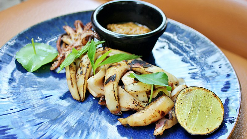 View Grilled Calamari at SPG by Bijan