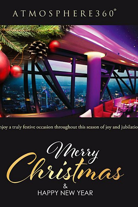 View Christmas Menu at Atmosphere 360 Revolving Restaurant KL Tower