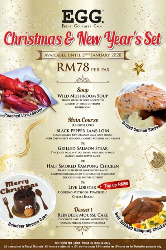 View Christmas & New Year's Set Menu at EGG - 8 Gourmets Gala