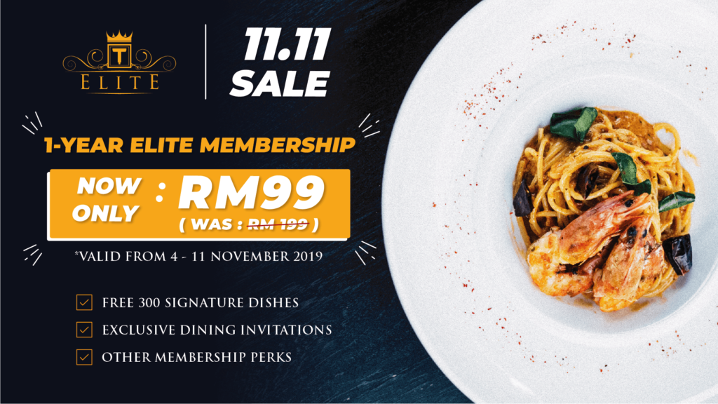 1111 Sale - Only RM99 for 1-Year ELITE Membership!