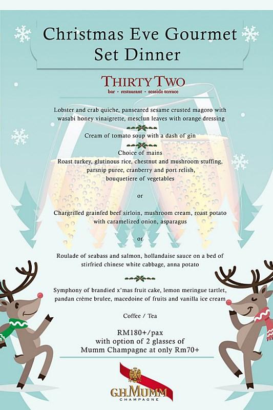 View Christmas Menu at Thirty Two at The Mansion