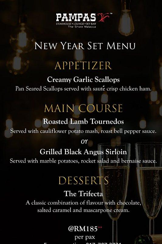 View New Year's Menu at Pampas Sky Dining