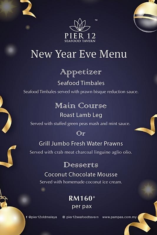 View New Year's Menu at Pier 12 Seafood Tavern