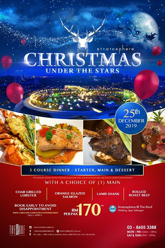 View Christmas Menu at Stratosphere