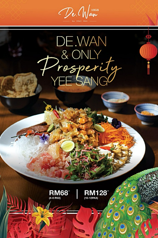 View Prosperity Yee Sang at Dewan by Chef Wan