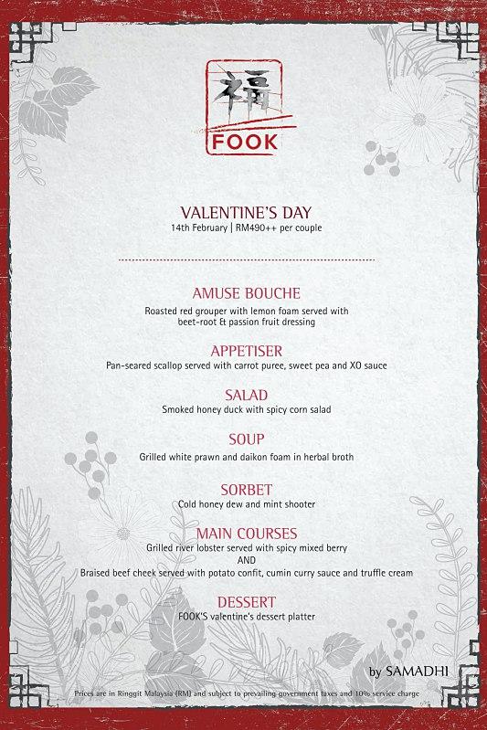 View Valentine's Menu at FOOK