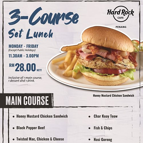 View Set Lunch Promo at Hard Rock Cafe