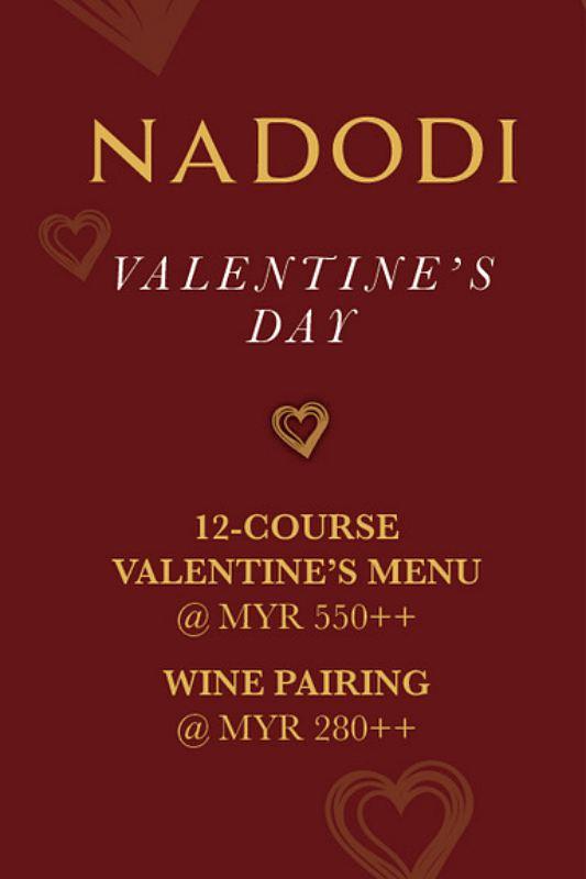 View Valentine's Menu at Nadodi