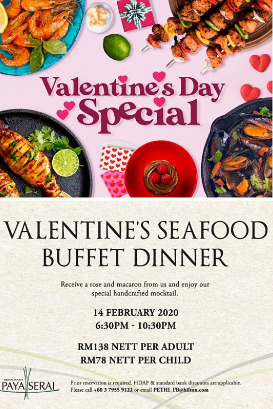 View Valentine's Menu at Paya Serai @ Hilton Petaling Jaya