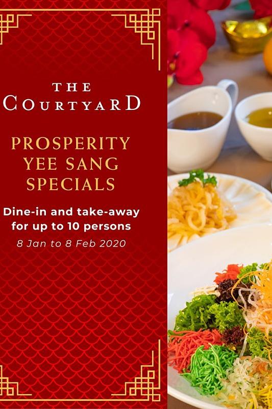 View CNY Yee Sang at The Courtyard @ Pavilion Hotel Kuala Lumpur