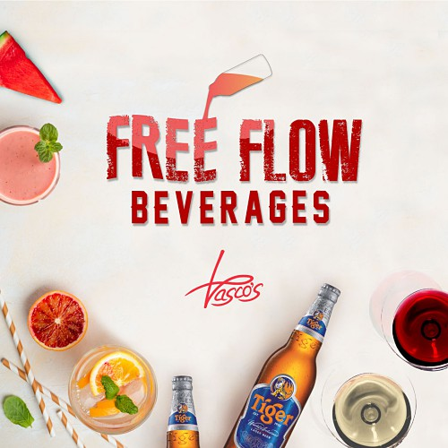 View Free Flow Beverages Promo at Vasco's @ Hilton Kuala Lumpur