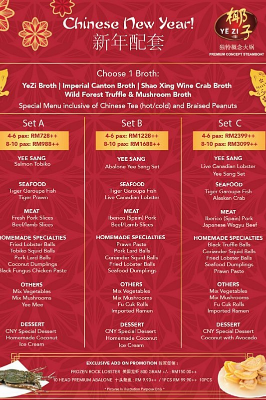 View Chinese New Year Set Menu at Yezi at The Roof