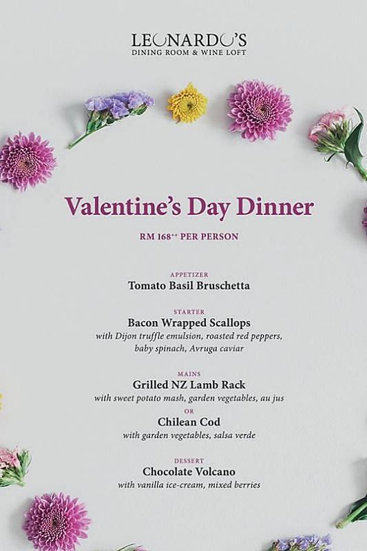 View Valentine's Menu at Leonardo's Dining Room & Wine Loft