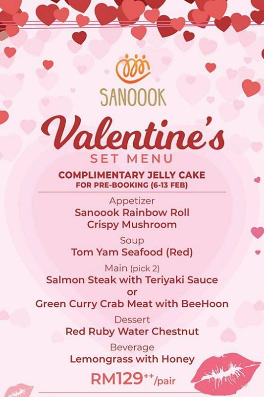 View Valentine's Menu at Sanoook