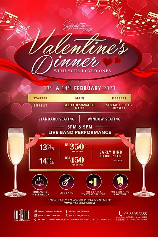 View Valentine's Menu at Signature