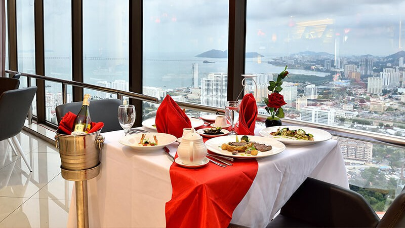 View Top Romantic Restaurants in Penang for Valentine's Day 2020 - TOP View Restaurant & Lounge