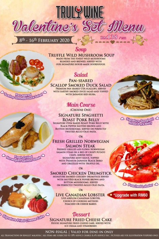 View Valentine's Menu at Truly Wine