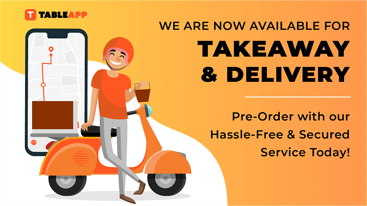 You Can Now Order Food Takeaway & Delivery Via TABLEAPP