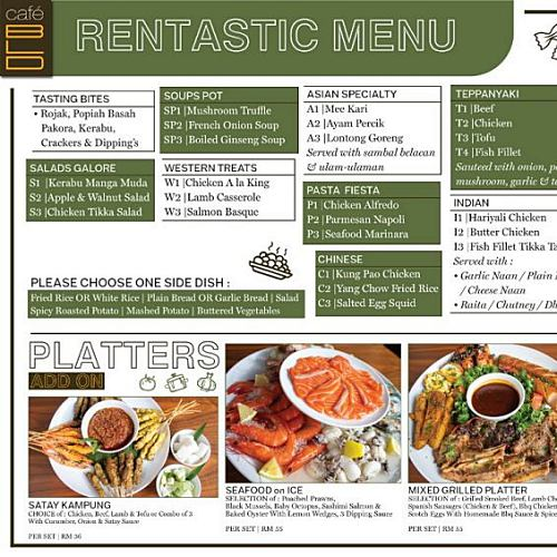 View Rentastic Menu at Cafe BLD