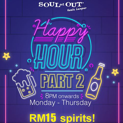 View Happy Hour Promo at Souled Out Sri Hartamas