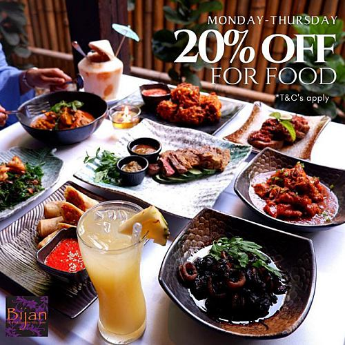 View Food Promo at Bijan