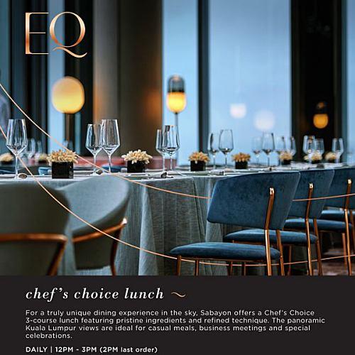 View Chef Choice Lunch Promo at Sabayon
