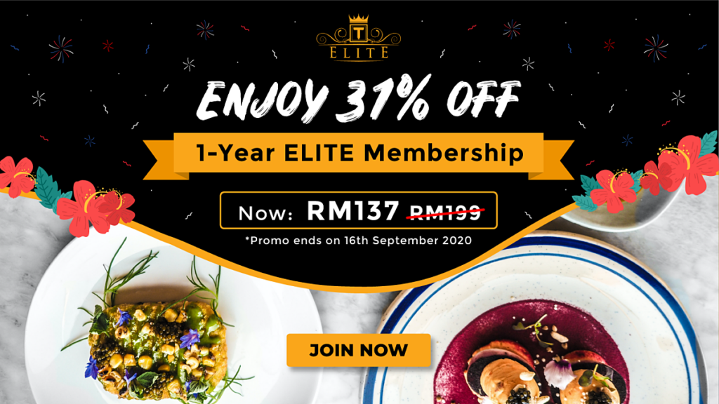 Get 31% Off ELITE 1-Year Membership This Merdeka at RM137 Only