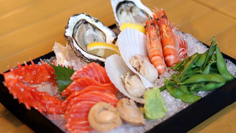 View Sashimi Seafood Platter at Yamaguchi Fish Market