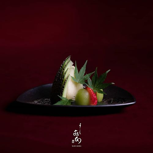 View Seasonal Produce at Sushi Azabu