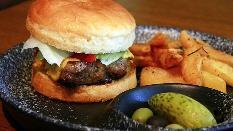 View Wagyu Striploin Steak Burger at B_G_R