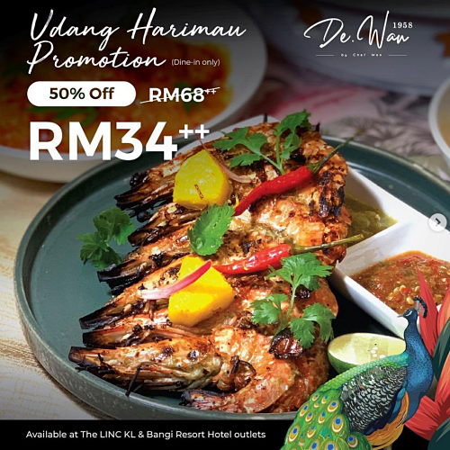 View Udang Promotion at De.Wan 1958 by Chef Wan