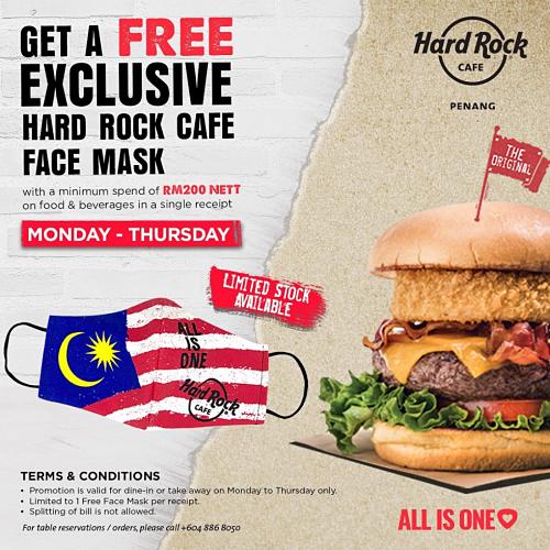 View Exclusive Promo at Hard Rock Cafe Penang