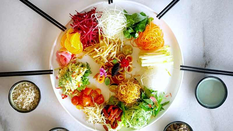 View Chinese New Year Yee Sang at Cafe Chef Wan