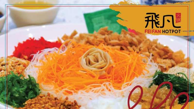 View Chinese New Year Yee Sang at Fei Fan Hot Pot