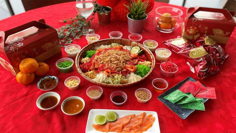 View Chinese New Year Yee Sang at Hilton Garden Inn