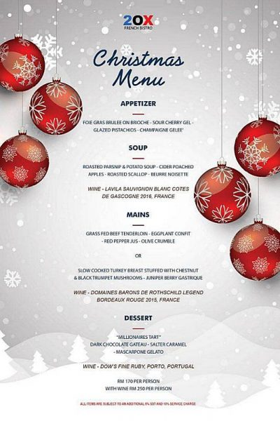 Click here to view Christmas Menu at Two-Ox