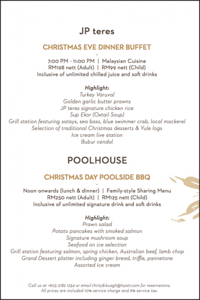 Click here to view Christmas Menu at JP teres