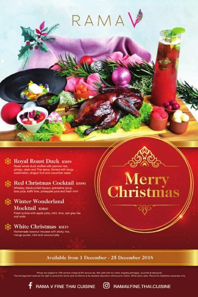 Click here to view Christmas Menu at Rama V