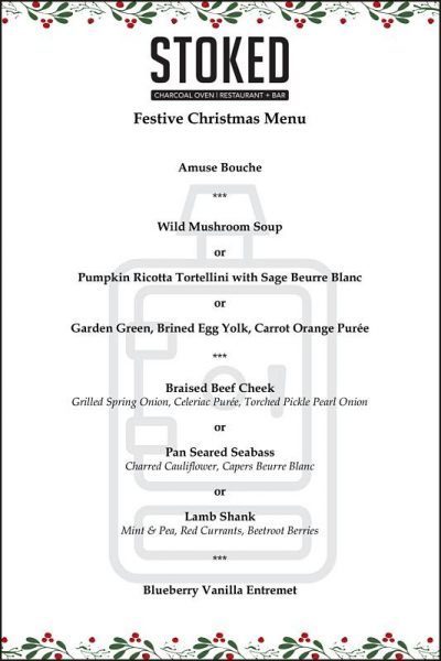 Click here to view Christmas menu at Stoked