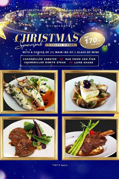 Click here to view Christmas Menu at Stratosphere