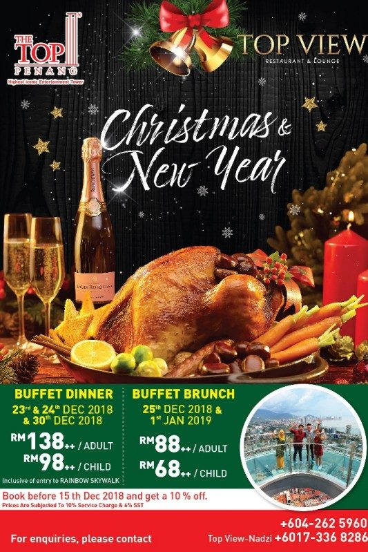 Click here to view Christmas Menu at TOP View Restaurant & Bar