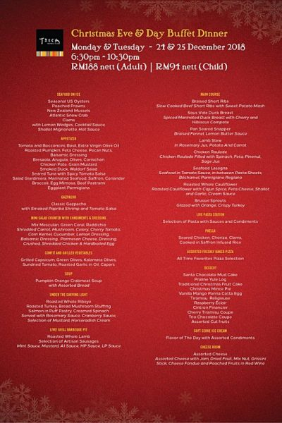 Click here to view Christmas Day Buffet Dinner at Tosca